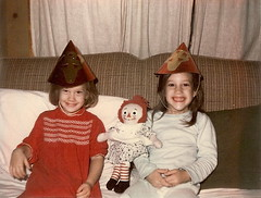 Retro auld lang syne~ (Texas to Mexico) Tags: me vintage sister retro lookingback 1965 yesteryear whenwewerekids thesistersknewhowtohavefun ilovethatraggedyann wishingyouahappynewyears newyearsevenanas