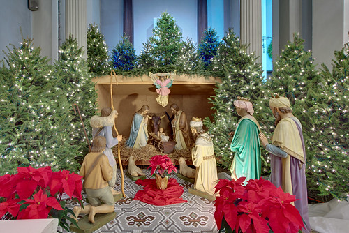 Basilica of Saint Louis, King of France (Old Cathedral), in Saint Louis, Missouri, USA - Christmas crèche 2