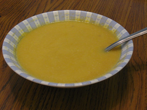 Yellow Pepper and Pinenut Soup