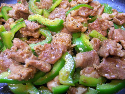 green pepper stir-fry
