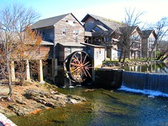 Old Mill on the Pigeon Forge River (bluerim) Tags: tennessee smokymountains gristmill easttennessee millpond pigeonforgetn pigeonforgeriver ponddam