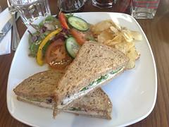 Chicken sandwich at The Walter Scott tea rooms, Romanes and Paterson, Edinburgh