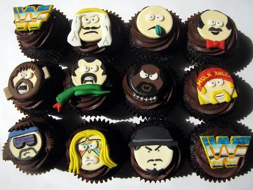 Old School WWF Cupcakes