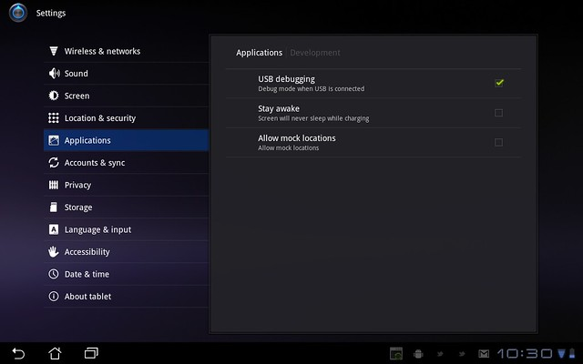taking screenshot on Android 3.0