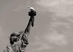 (tedjohnjacobs) Tags: newyorkcity bw newyork torch statueofliberty