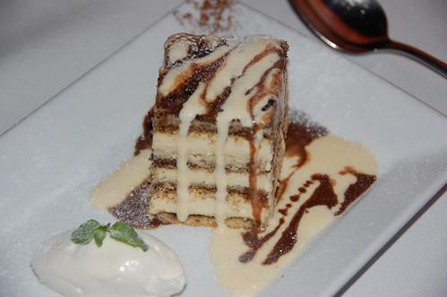 Coconut Tiramisu dessert at Cross