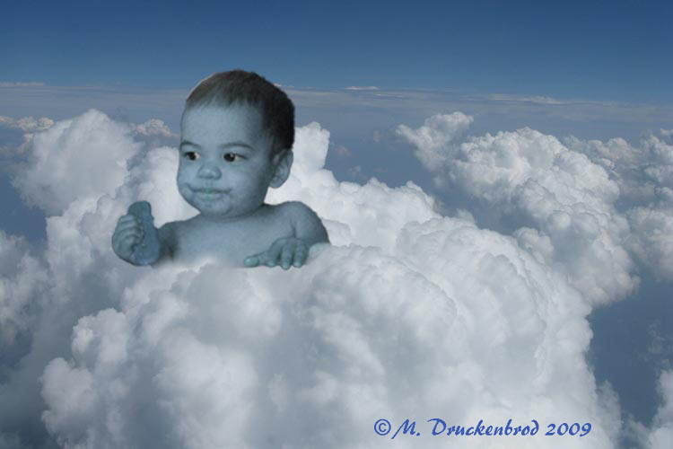 Blue baby, an enhanced photograph