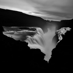 gullfoss IV (s k o o v) Tags: bw rain clouds waterfall iceland wind explore gullfoss backlog smartobjects silverefexpro2 archivepurge workdrainingcreativity