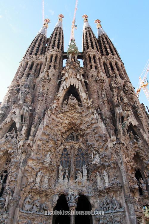 Sagrada Familia high floor view