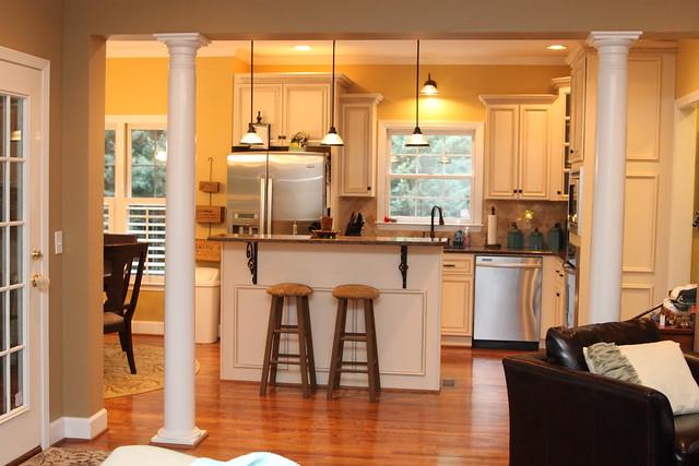 yellow kitchen before