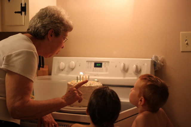 Blowing out the candles;)