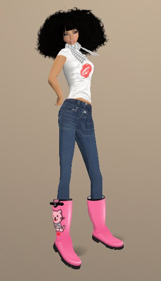 exclusion_skin_bigbomb1hair_yamy_valentineshirt_yamy_springmuffler_grey_lycee_feelings_jeans_ubu_pink psycho boots