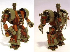 "What do you mean, ""Inferiority Complex?"" (DARKspawn) Tags: castle robot punk lego dwarf steam mecha dwarven mech steampunk castlelego dwarfpunk"
