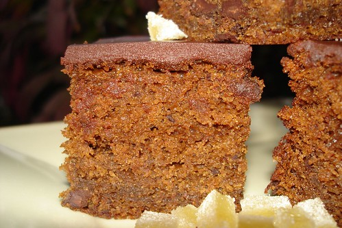 Fresh Ginger and Chocolate Gingerbread