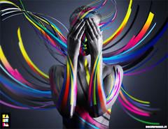 United Colors (kaneda99) Tags: woman art colors illustration digital photoshop design rainbow experiment illustrations 123 321 topf300 adobe illustrator topf250 kaneda kaneda99 colorphotoaward wwwnosurprisesit wwwkanedait alessandropautasso goldenheartaward