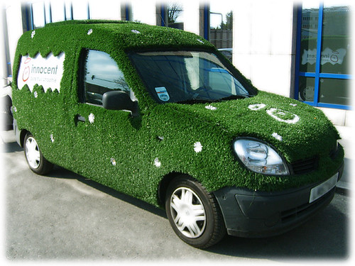 a real green car