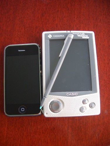 The iPhone vs the Cassiopeia E-105