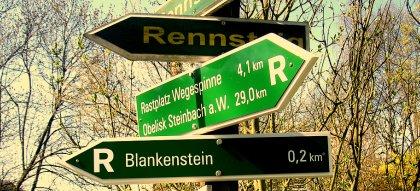 Wegweiser Blankenstein