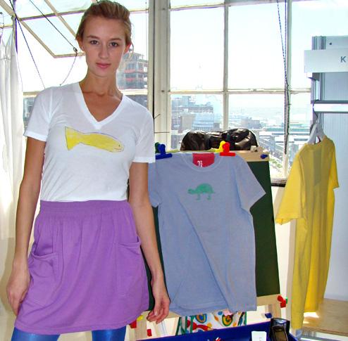 We love K Art - Organic T-shirts made from kids' art