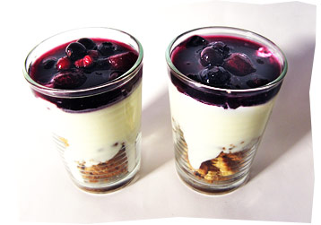 Yogurt, Fruit and Cookie Dessert