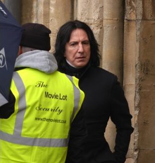 The actor portraying professor Snape on-set.