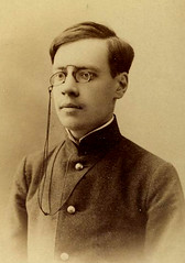 Very myopic teen pz cord Russia c 1890's (pince_nez2008) Tags: nose glasses teen teenager soldiers eyeglasses myopic eyewear pincenez noseclip noseeyeglasses