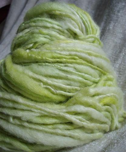 leaf - handspun yarn