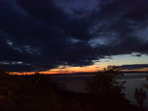 Night skyline over Swedish territory
