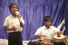 Rajkumar - the singer (Light and Life -Murali ) Tags: music india drums student blind bangalore singer rakum indiranagar