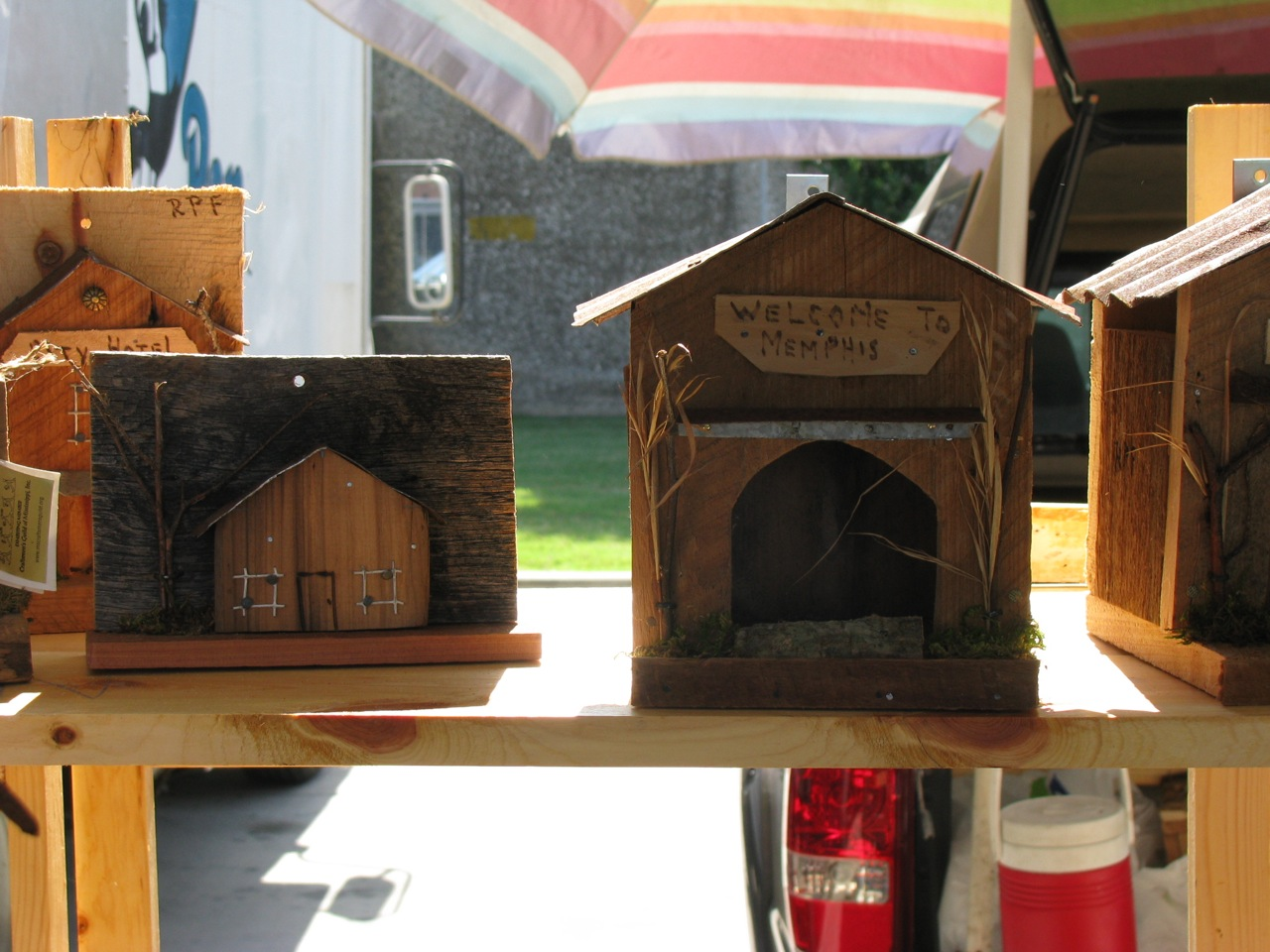 Some of Dad's birdhouses