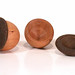 Pill Boxes - Cherry with textured Walnut lids. Perfect for carrying in your pockets. $30