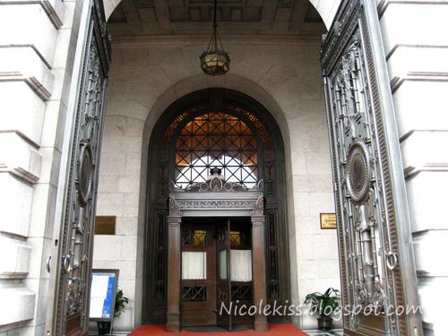 grand entrance of pudong bank