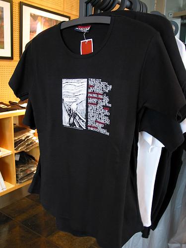 Munch museum紀念T恤 (by Audiofan)