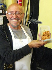 Todd delivered jambalaya to Drewes Brothers, the source of the jambalya's meat, San Francisco