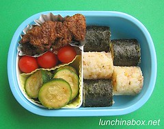 Chicken karaage bento lunch for preschooler