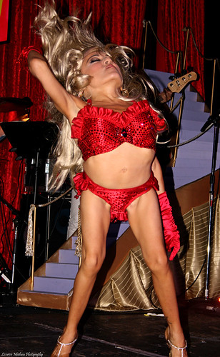 selene luna at the rock n roll strip show 2008
