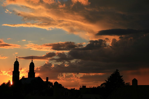 Cloudy Corpus Christi Sunset Skyline