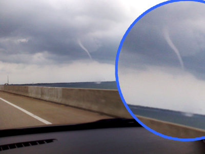 Water Spout on Pensacola Bay