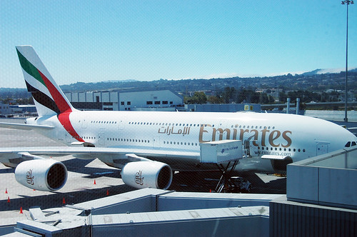 Emirates A380 at SFO