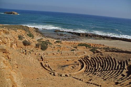 Teatro ellenico ad Apollonia, Libia.