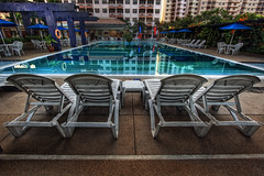 Warning: Relaxation beyond this line (vedd) Tags: morning pool canon eos chair malaysia hdr portdickson 5xp 400d vedd