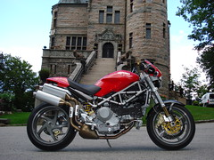 The Ducati Monster Project (Mondial34) Tags: castle monster medieval moto ducati brembo s4r marchesini