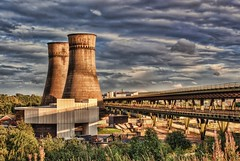 Farewell to Tinsley cooling towers (Steel Steve) Tags: bravo m1 sheffield southyorkshire coolingtowers tinsley firstquality tinsleyviaduct aplusphoto brillianteyejewel sonyalpha200 davincitouch