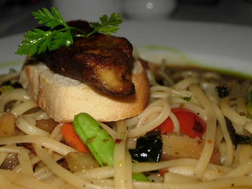 foie gras with linguine