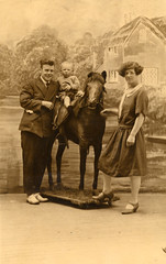 This really is a stuffed pony (lovedaylemon) Tags: vintage studio found stuffed image pony backdrop blackpool charleshowell
