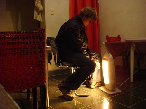 God bless the electric heater! Hualfín, Argentina.