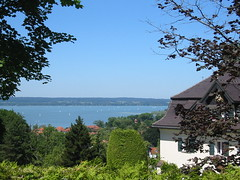 Path to Andechs: Views over Ammersee on the way to Andechs