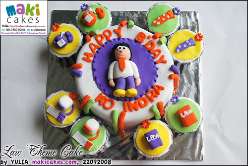 Law Theme Cake & Cupcakes - Maki Cakes