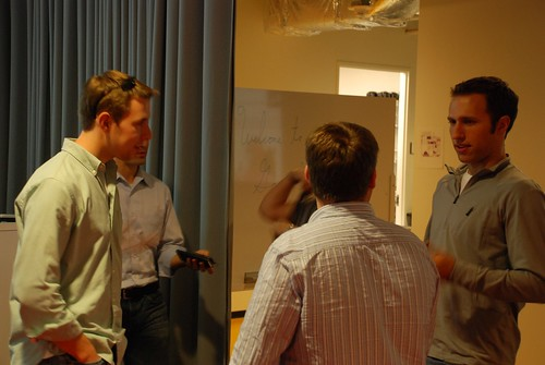Matt Stempeck (far right) and attendees at the DC News Challenge Meetup