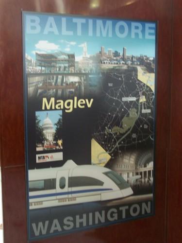 Baltimore Washington Maglev promotional poster